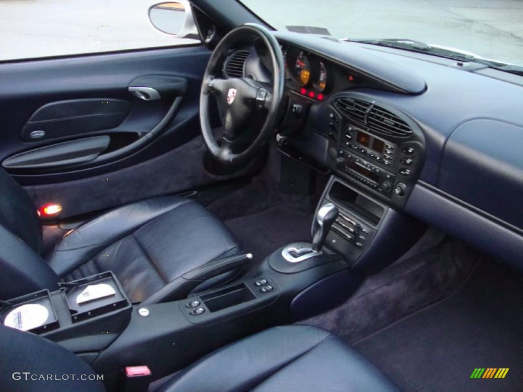 Metropol Blue Interior 2001 Porsche Boxster Standard Boxster Model Photo #41147867