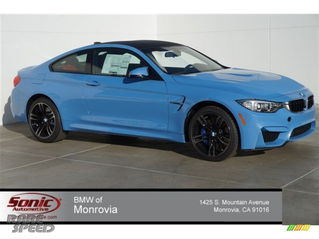 2015 M4 Coupe - Yas Marina Blue Metallic / Sakhir Orange/Black photo #1