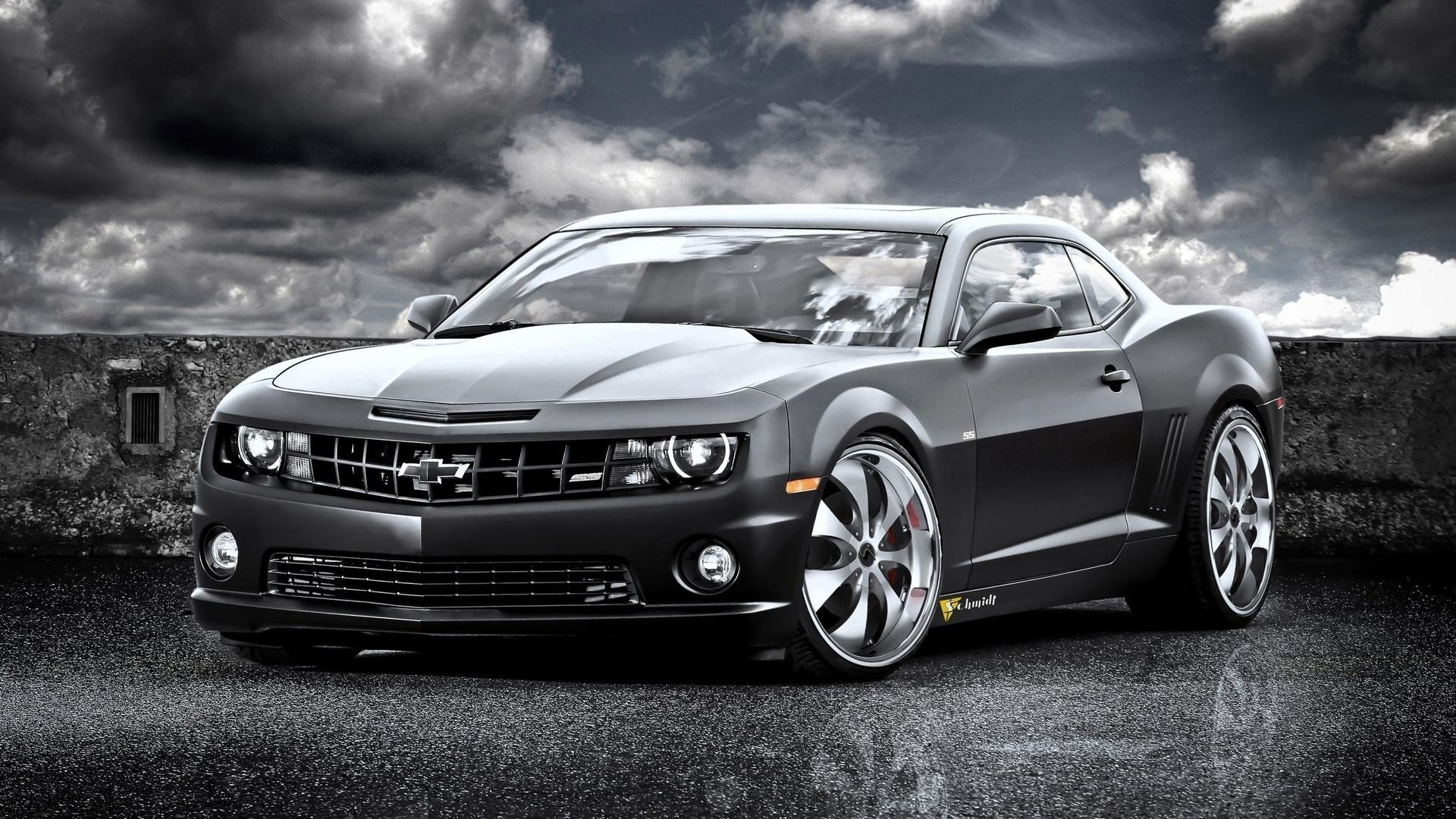 Hd Fast Black Chevrolet Camaro Ss Wallpaper 1920x1080px