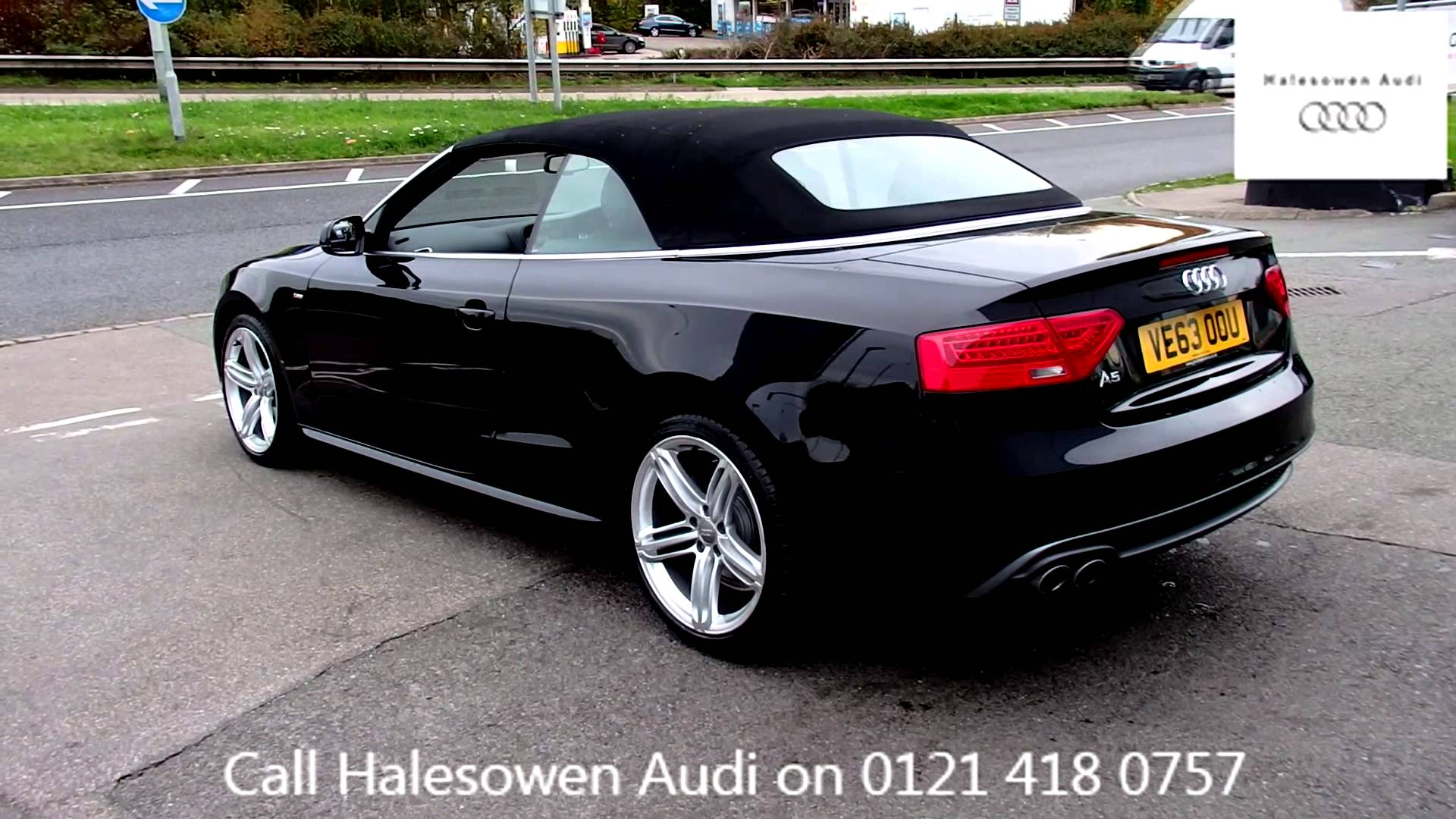 Audi A5 Black Convertible Wallpaper 1920x1080 2579