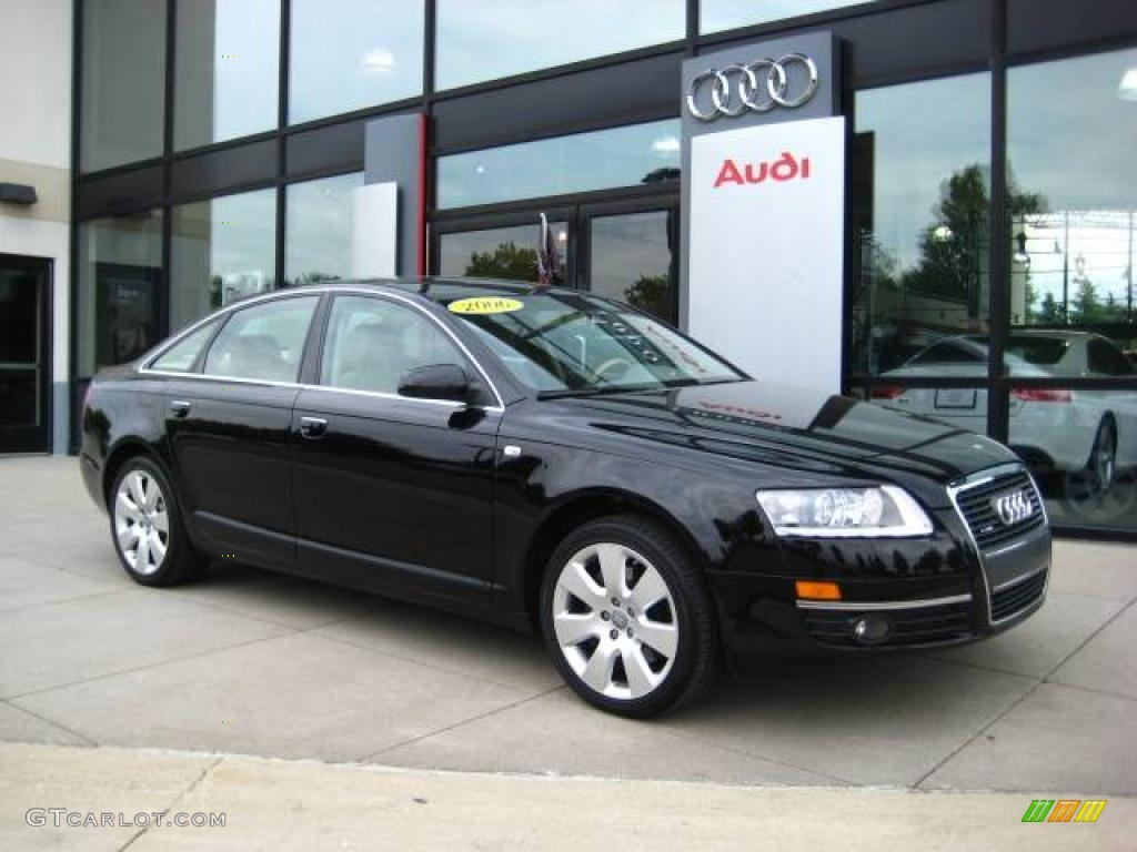 2006 A6 3.2 quattro Sedan - Brilliant Black / Beige photo #1
