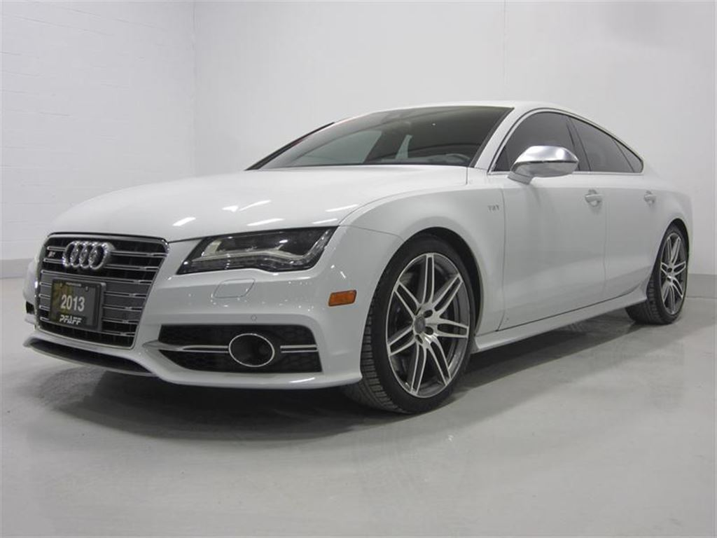 2013 Audi S7 4.0T Sportback 7sp S Tronic qtro Pfaff purchased and serviced. Glacier White Metallic on Black Multicontour & Ventilated Front Seats Includes ...