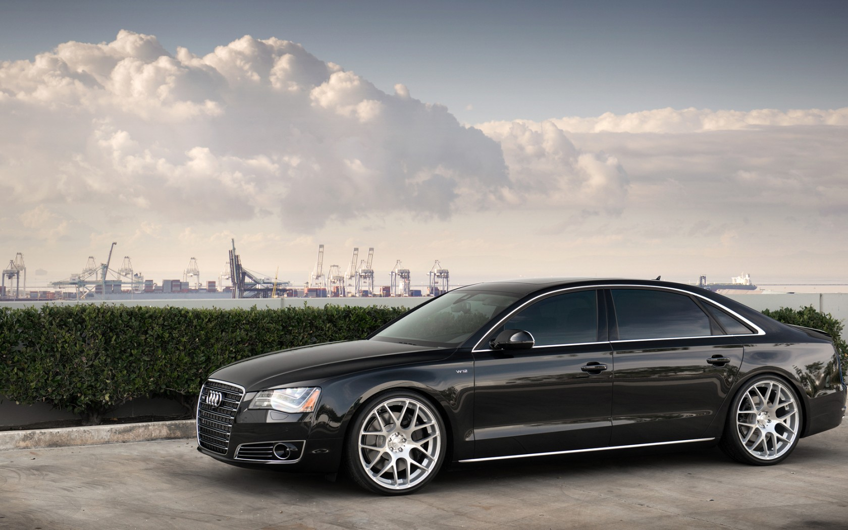 Audi A8 Hd Black Side View