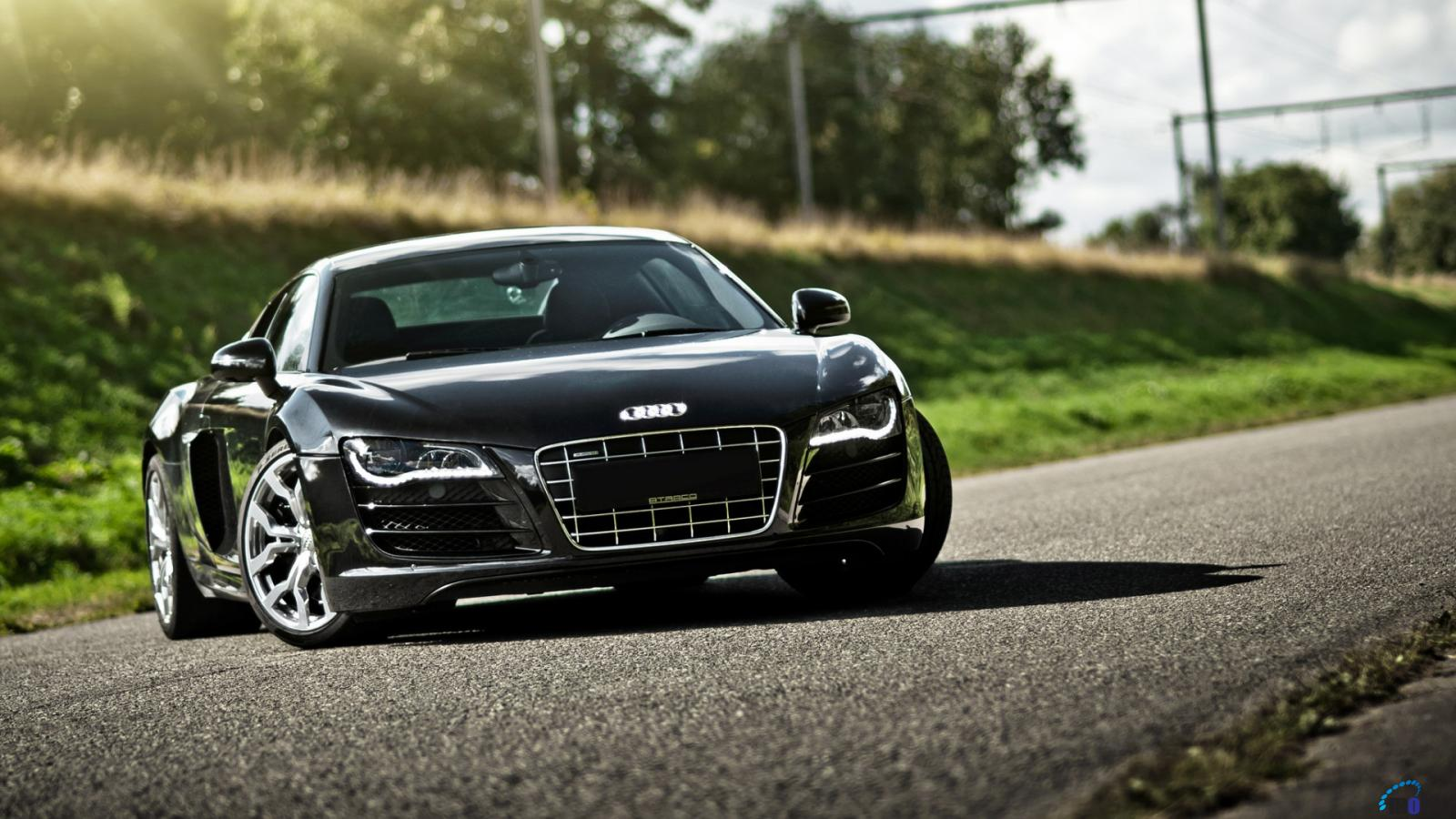 Desktop wallpapers Black Audi R8 V10.