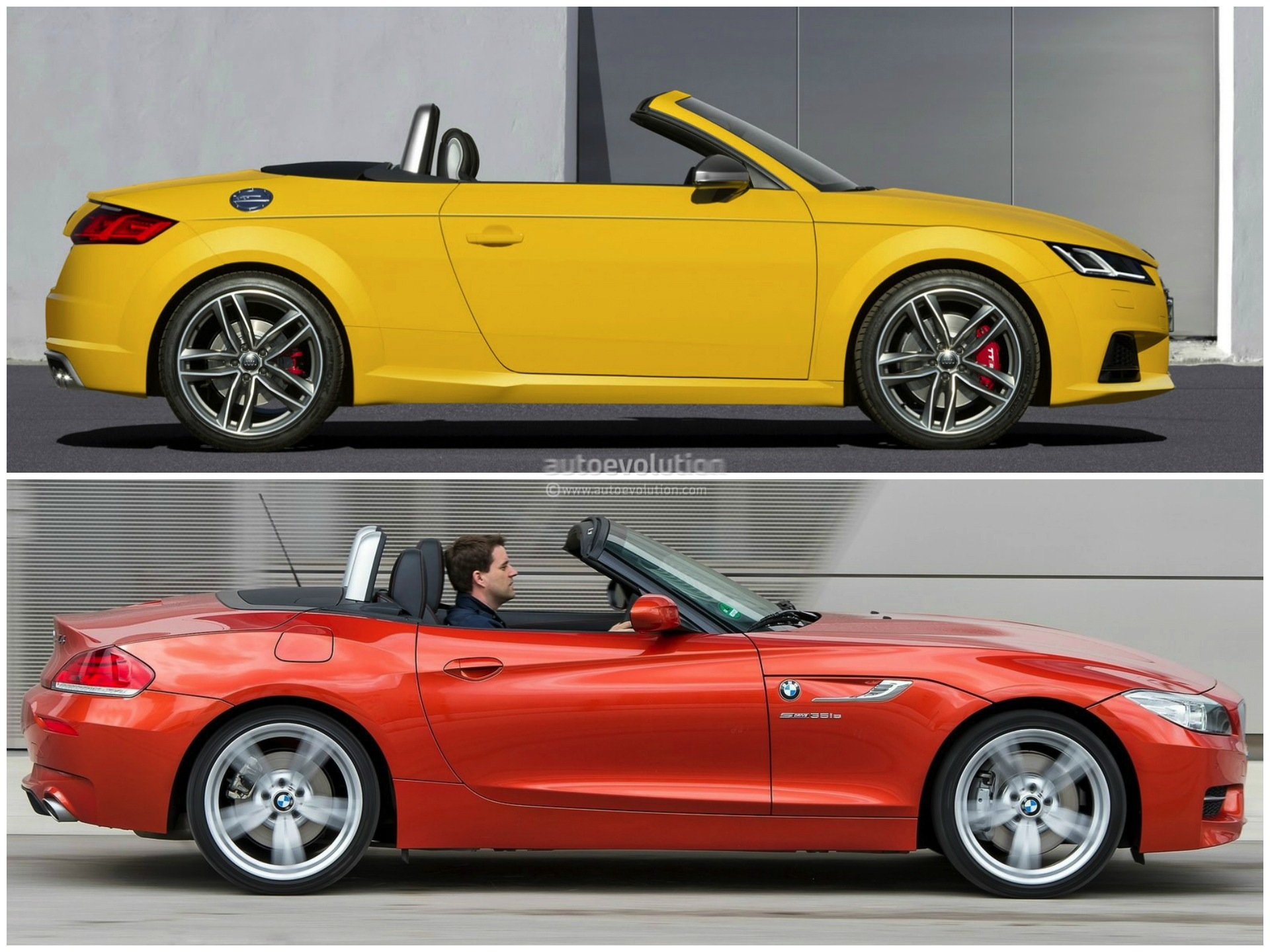 2014 BMW Z4 vs 2015 Audi TT Roadster - photo gallery