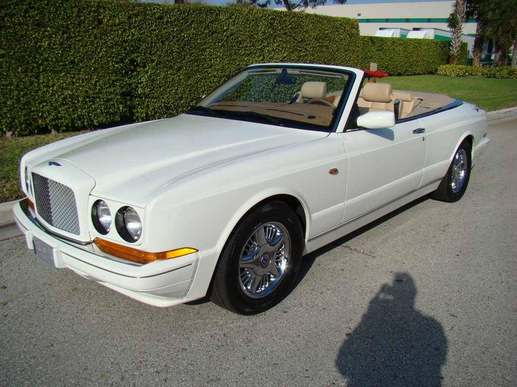 1997 Bentley Azure, White over Tan with Saddle Piping and Secondary Hides, Chrome Factory Wheels, 33k miles from new! Gorgeous inside and out!
