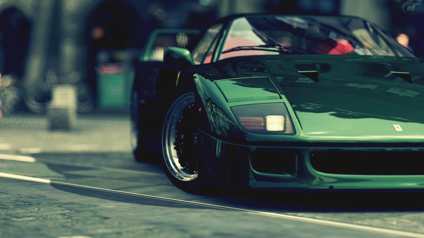 Black Ferrari F40 Wallpaper