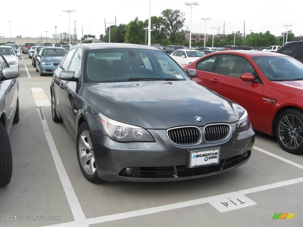 2007 5 Series 525i Sedan - Titanium Grey Metallic / Black photo #1