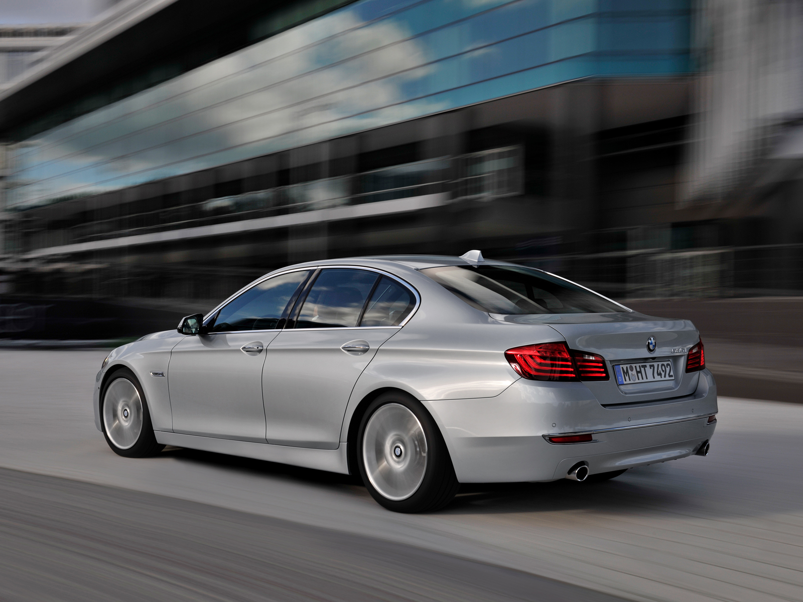 2014 Bmw 535i Sedan Left Rear View