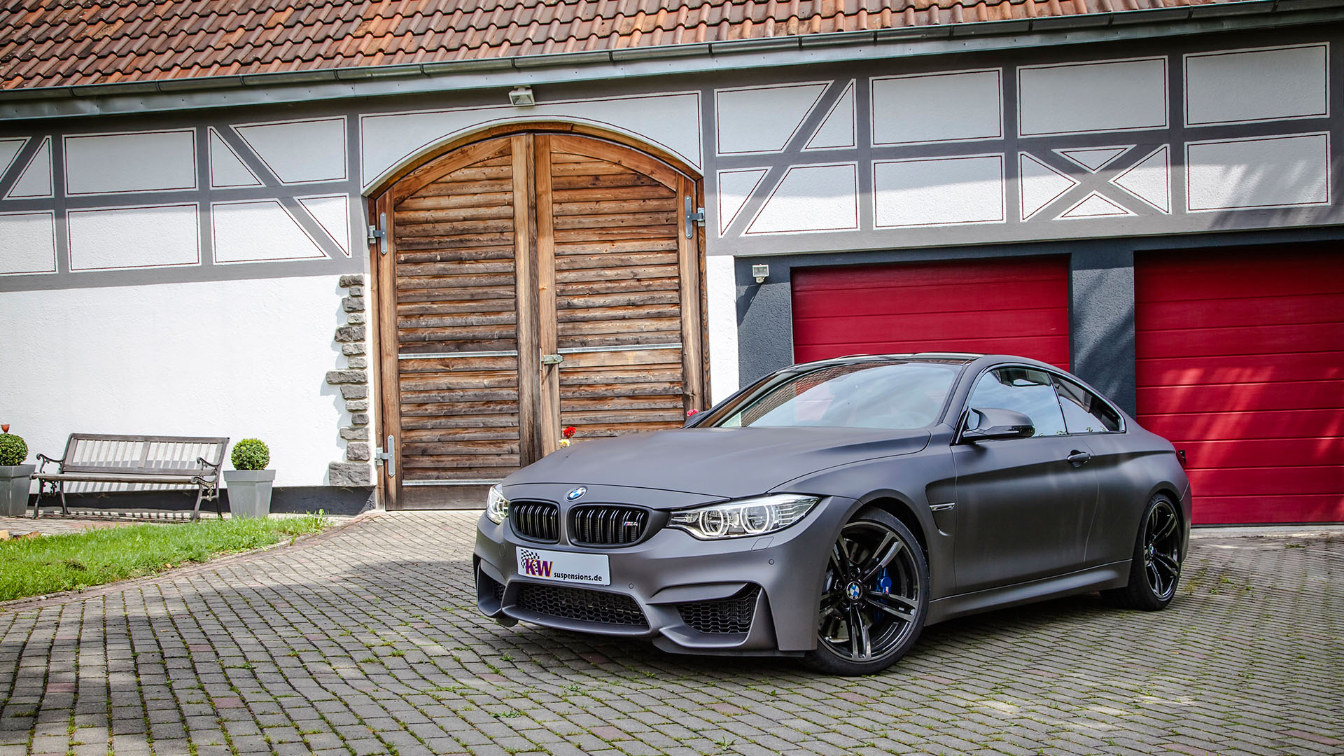 bmw m4 matte black wallpaper 1920x1080 4266