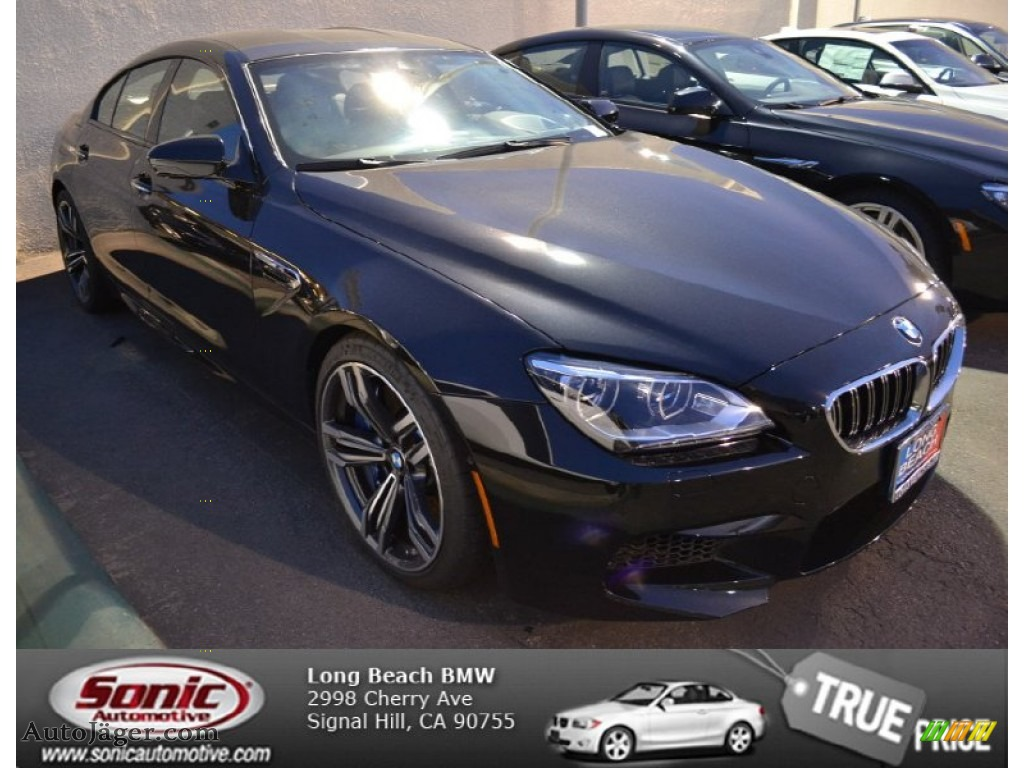 2014 M6 Gran Coupe - Black Sapphire Metallic / Black photo #1