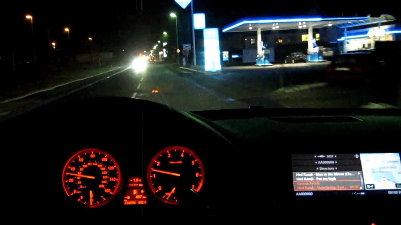 BMW X6 50i driving at night part 2