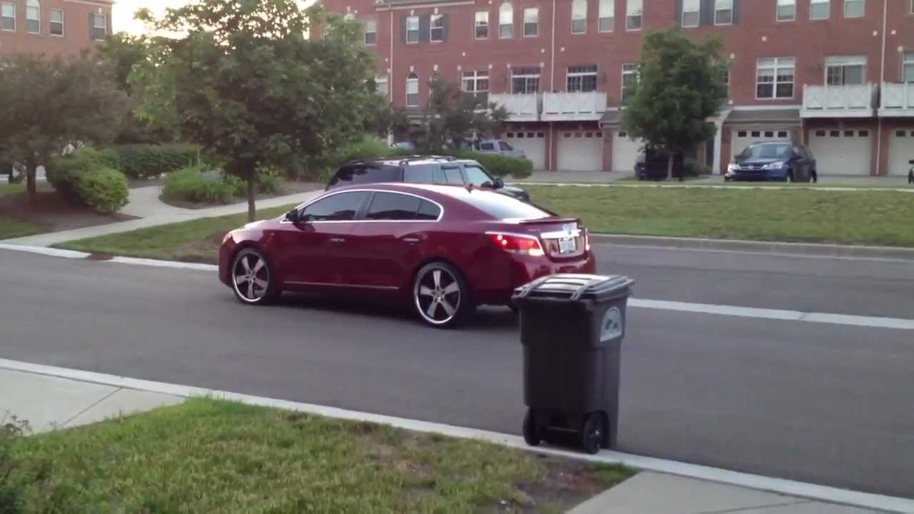 Buick lacrosse on 22 inch DONZ in motion 1