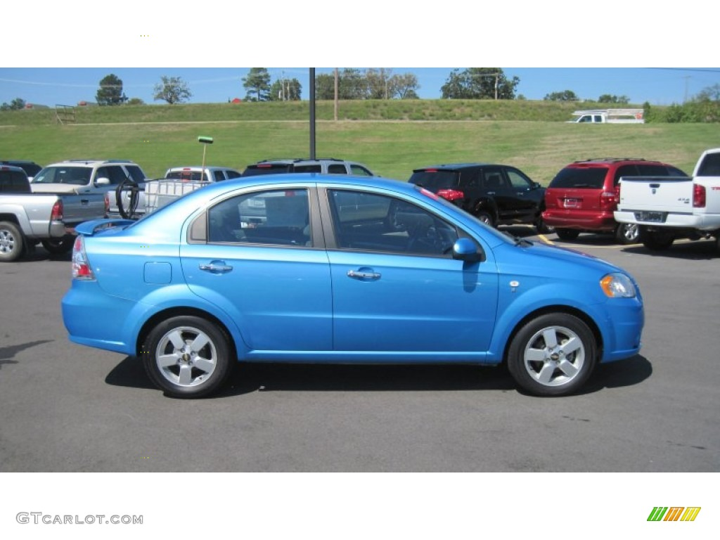 Bright Blue 2007 Chevrolet Aveo LT Sedan Exterior Photo #54553287