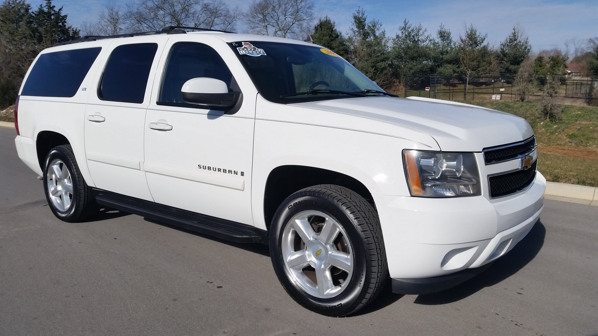 SOLD.2007 CHEVROLET SUBURBAN LTZ 4X4 SUMMIT WHITE 1 OWNER 173K for sale Call 855-507-8520