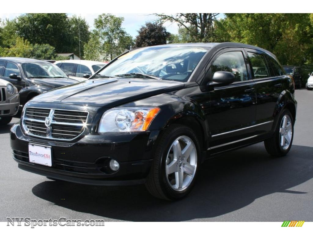 Brilliant Black Crystal Pearl / Dark Slate Gray/Blue Dodge Caliber R/T