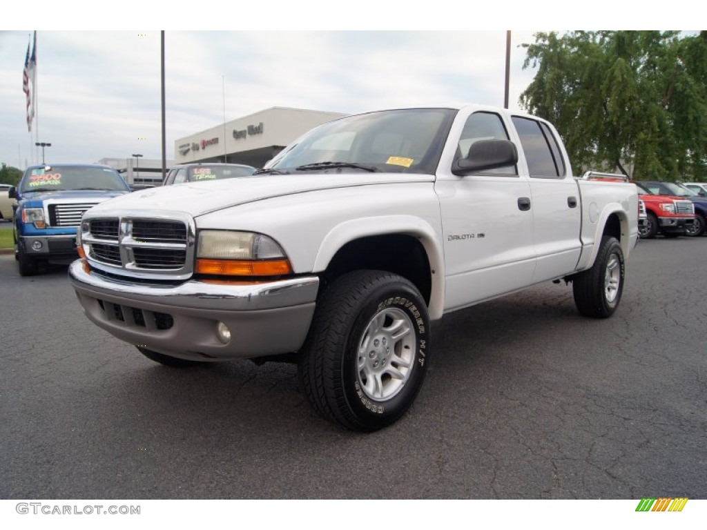 Bright White 2002 Dodge Dakota SLT Quad Cab 4x4 Exterior Photo #53844216