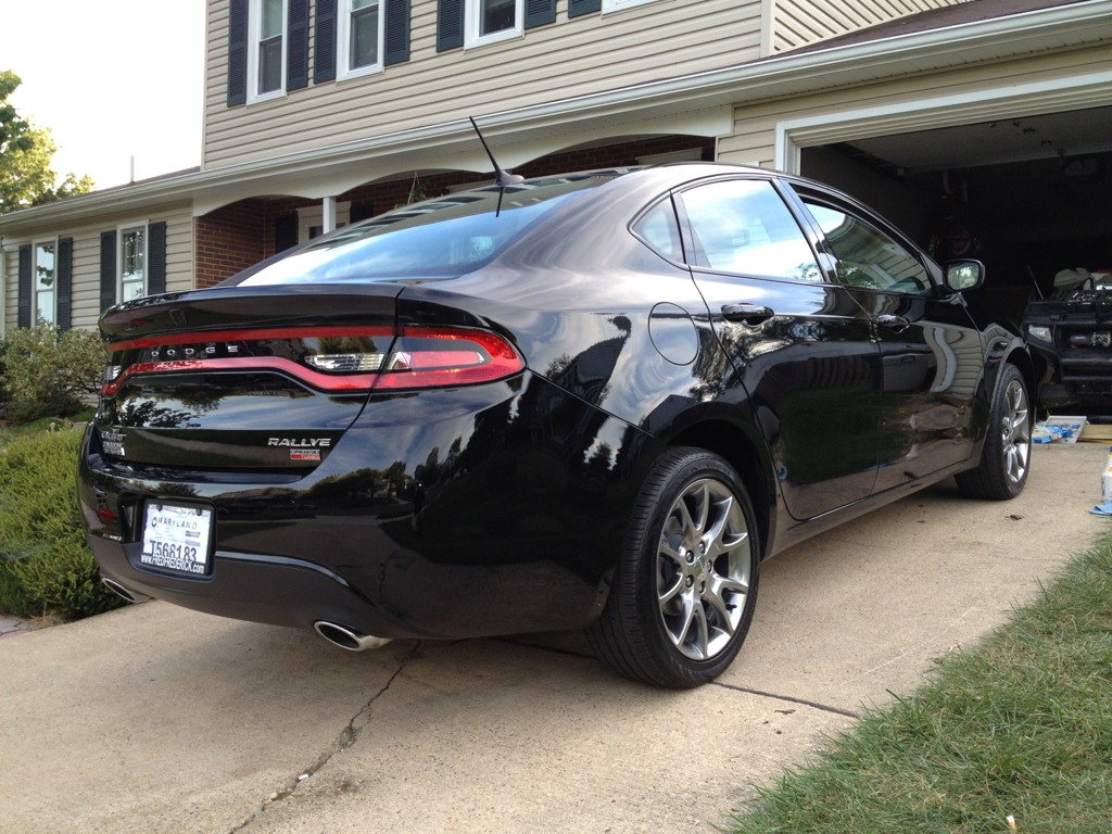 Dodge Dart Black Rims