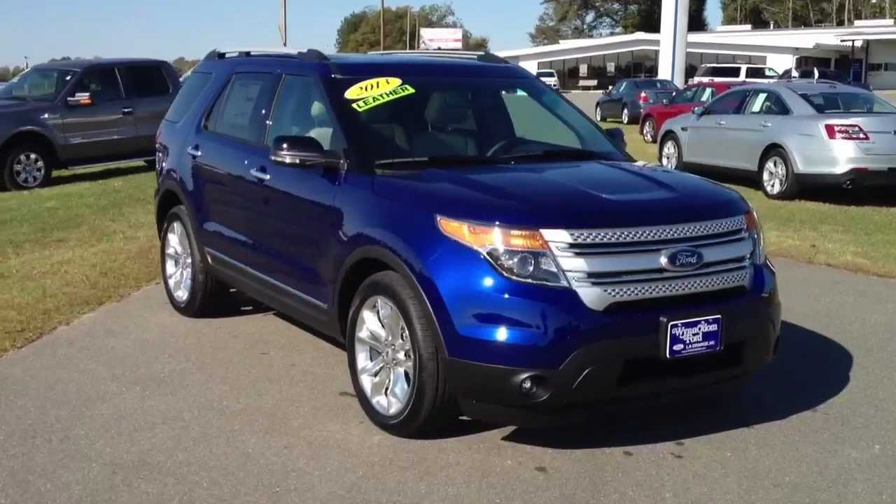 NEW 2013 Ford Explorer XLT Deep Impact Blue