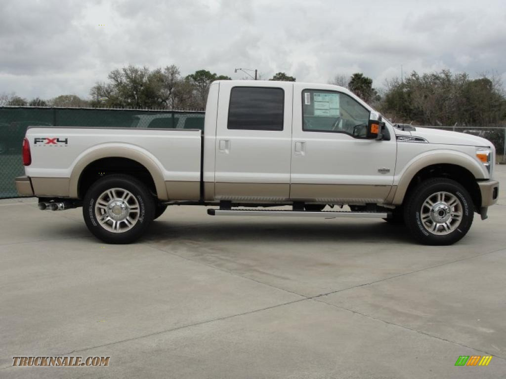 2011 F250 Super Duty King Ranch Crew Cab 4x4 - White Platinum Metallic Tri-Coat