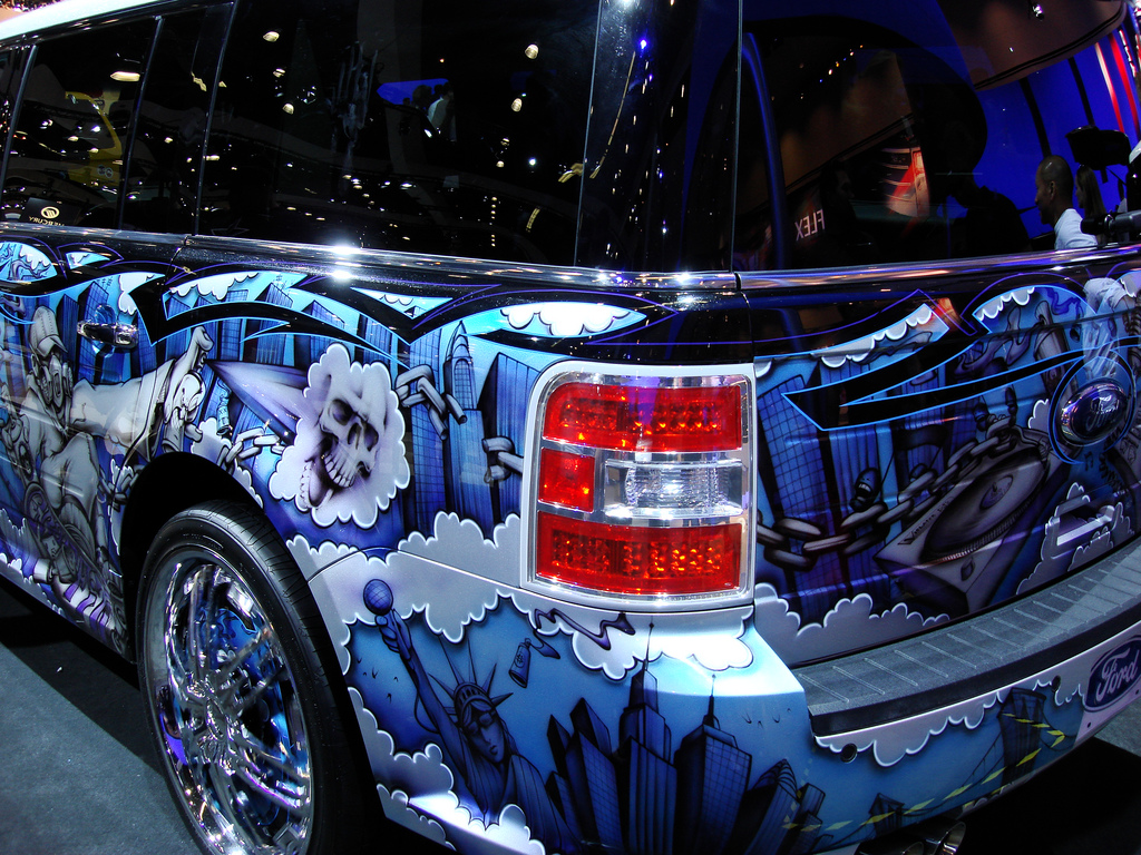 ... LA Auto Show 2008, Ford FLEX custom Paint Job | by Harvey-Harv