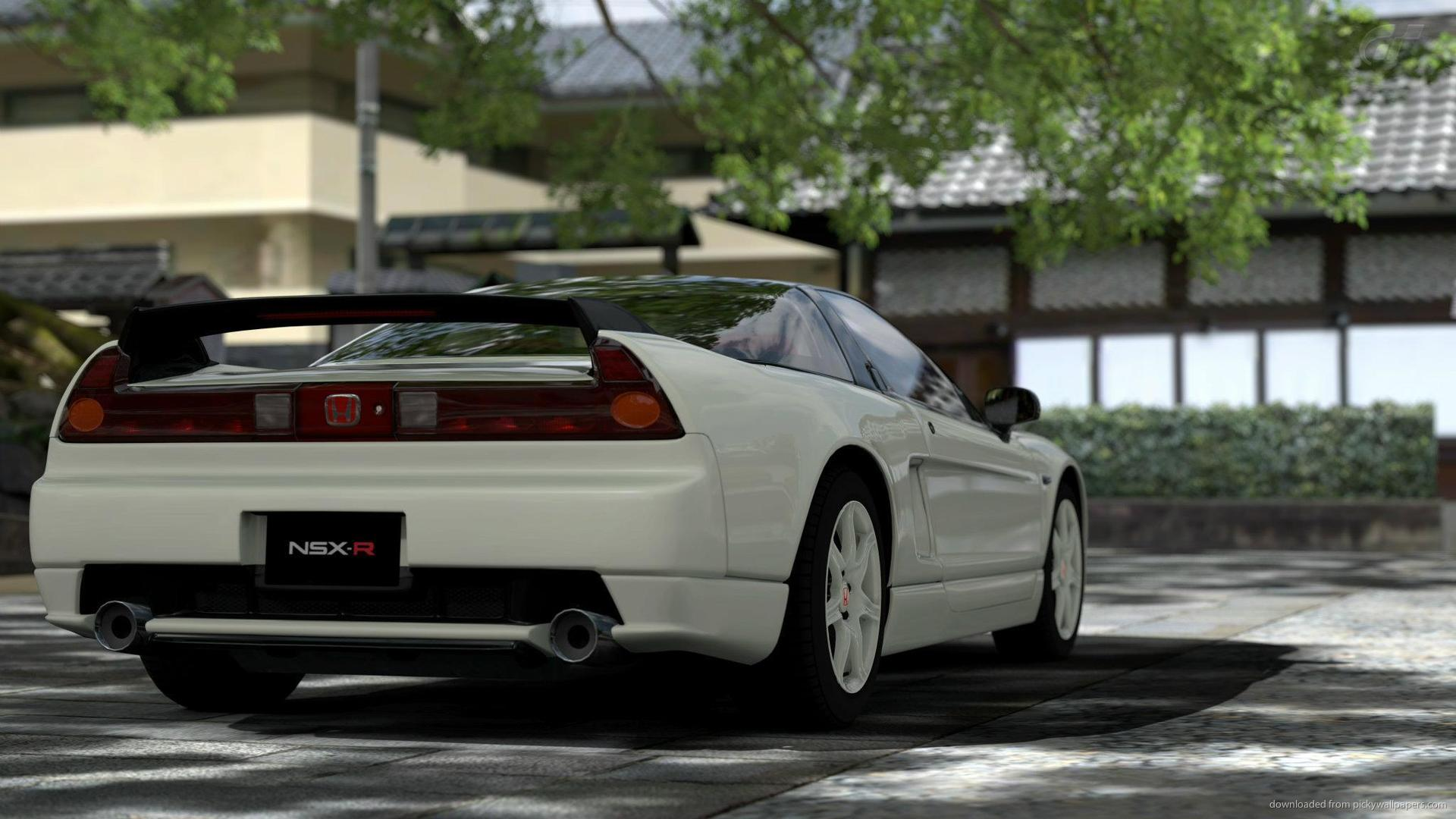 White 2002 Honda NSX Type R rear picture