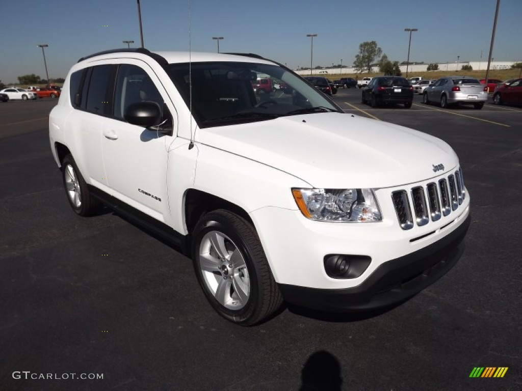 Bright White 2012 Jeep Compass Sport Exterior Photo #54821128