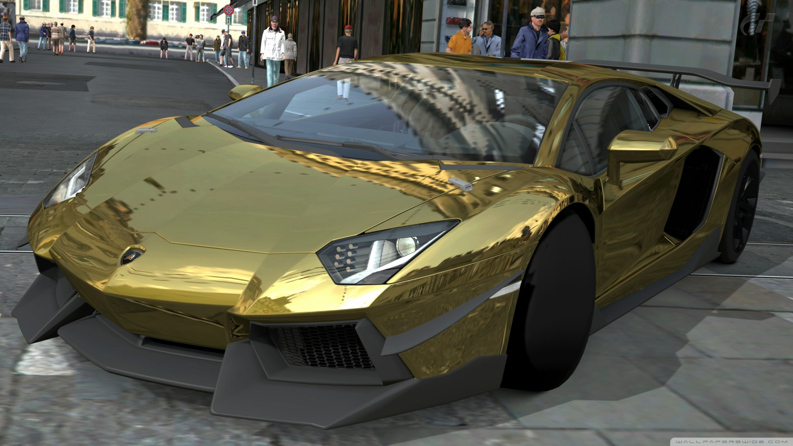 Lamborghini Aventador Gold And Black Hd Cool 7 HD Wallpapers