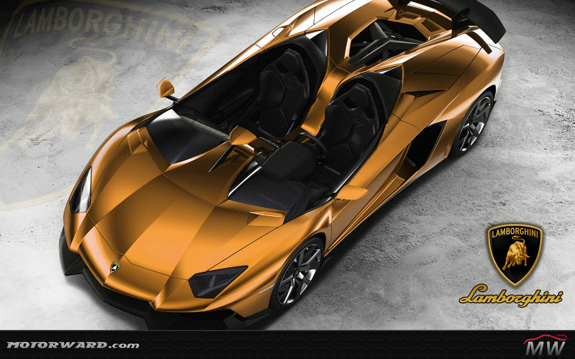Lamborghini Aventador J Gold wallpaper