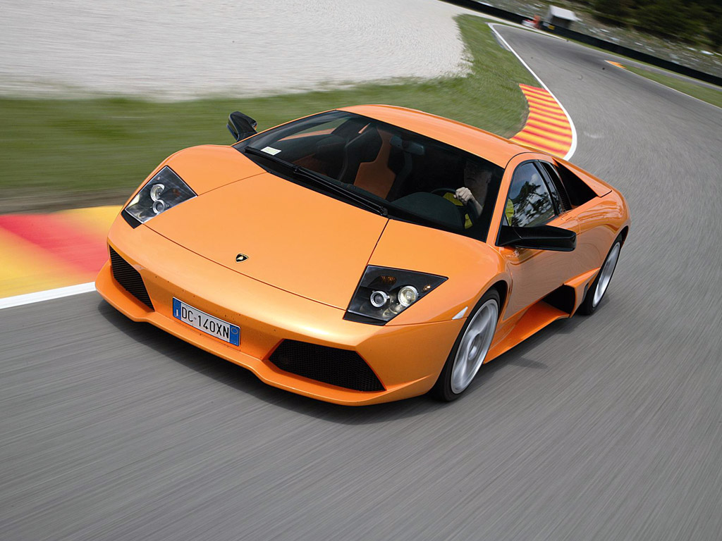 Orange Lamborghini Murcielago LP640