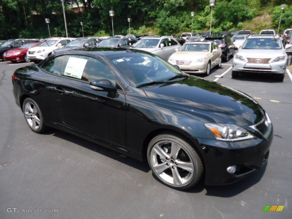 Obsidian Black 2012 Lexus IS 250 C Convertible Exterior Photo #68620100