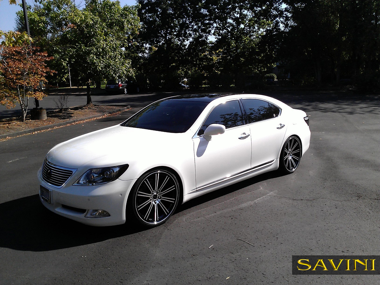 white-lexus-ls460-savini-wheels-black-di-forza-