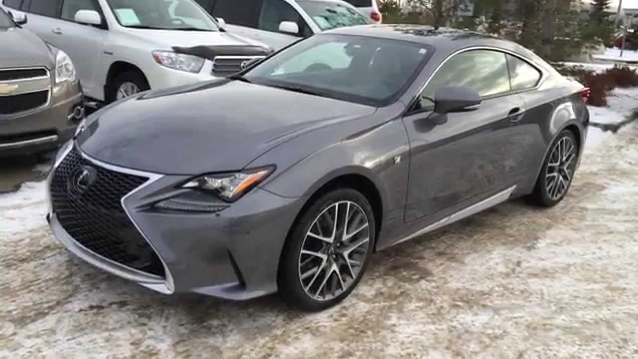 New Grey on Red 2015 Lexus RC 350 2dr Cpe AWD Review Canada