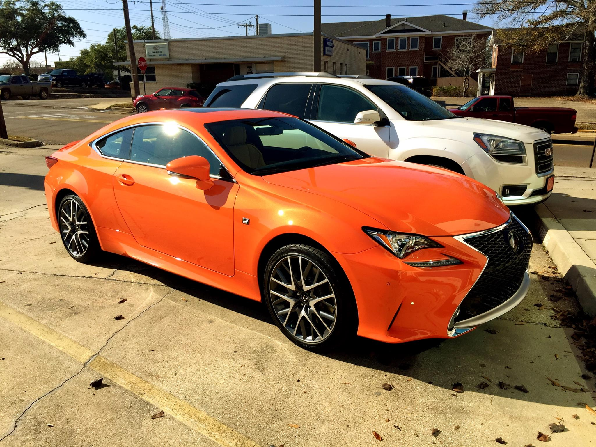 Lexus RC 350 F Sport Orange