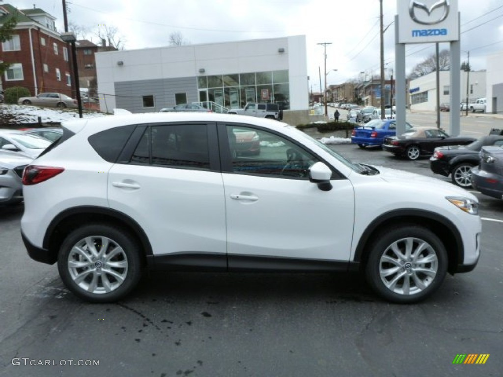 Crystal White Pearl Mica 2014 Mazda CX-5 Grand Touring AWD Exterior Photo #78910953
