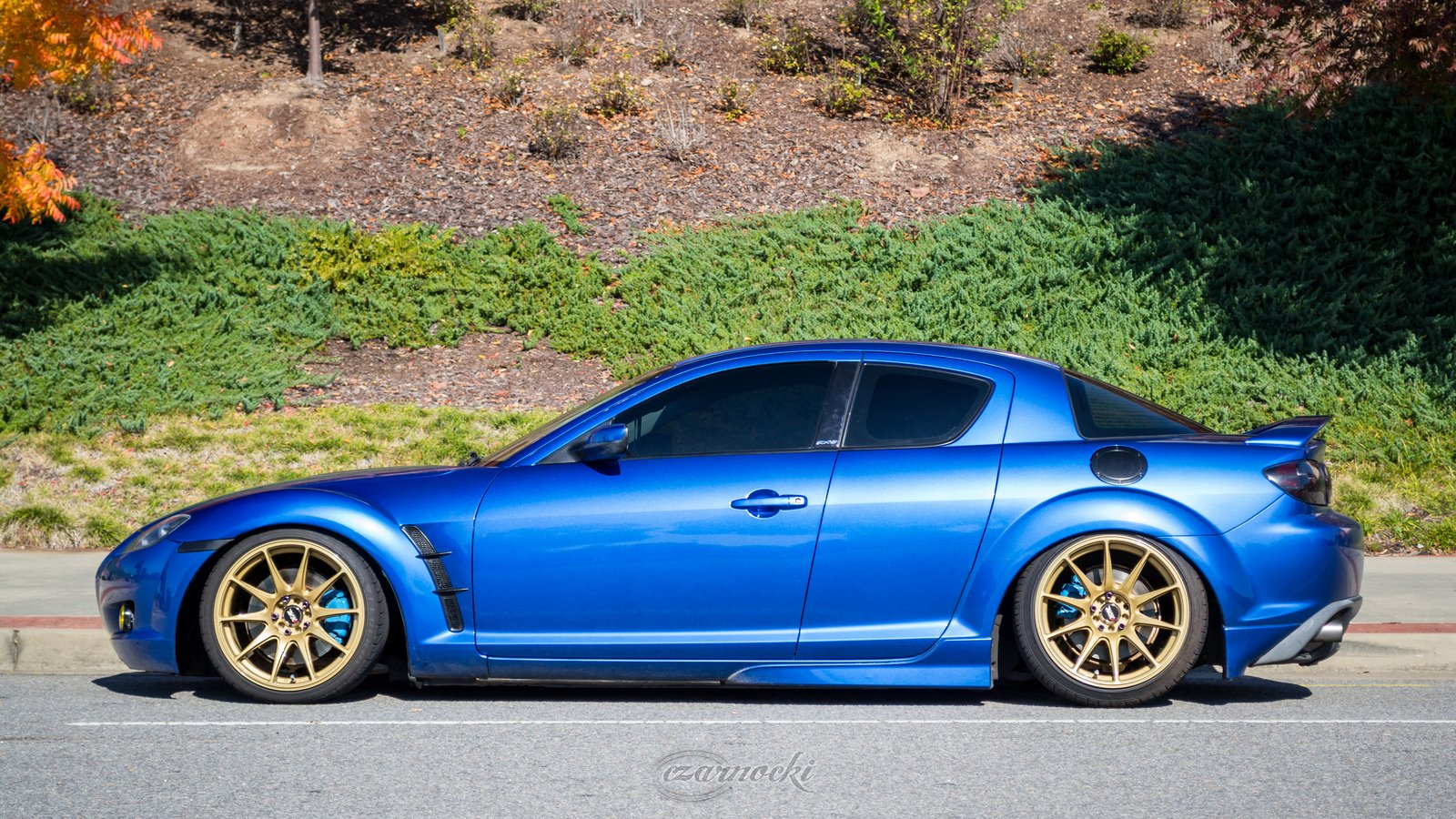 Mazda Rx8 Modified Blue