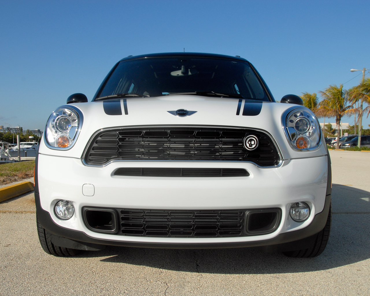 Mini Cooper Countryman White With Black Stripes
