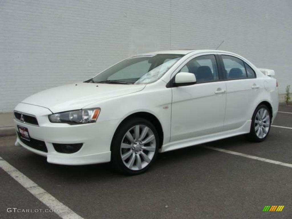 2008 Lancer GTS - Wicked White / Black photo #1