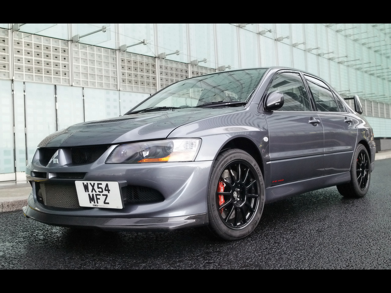 2005 Mitsubishi Lancer Evolution VIII MR FQ-400 - Front Angle - 1280x960 Wallpaper