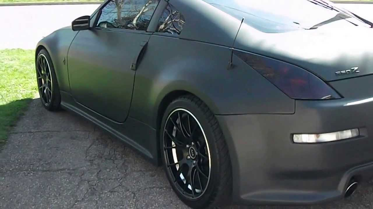 Nissan 350z White Black Rims