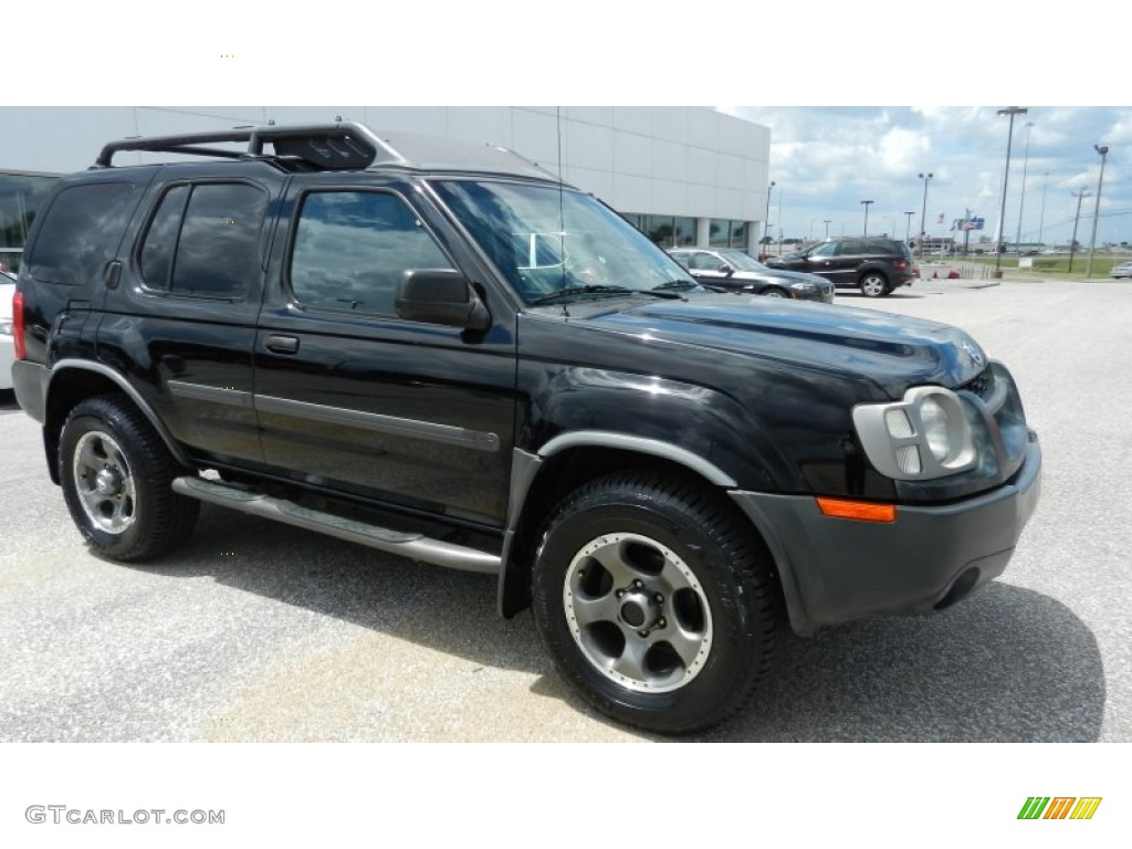 2004 Xterra SE Supercharged 4x4 - Super Black / Charcoal photo #1