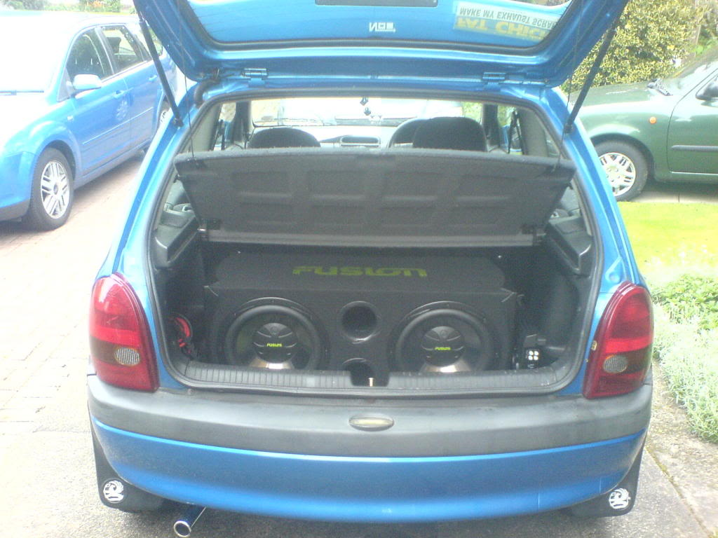 Opel Corsa Trunk Space