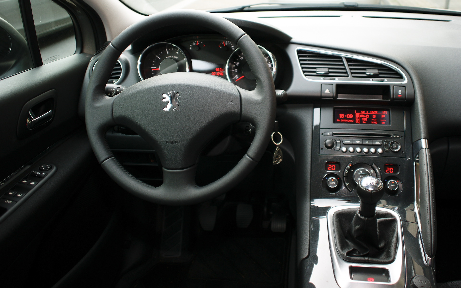 The dashboard design and layout