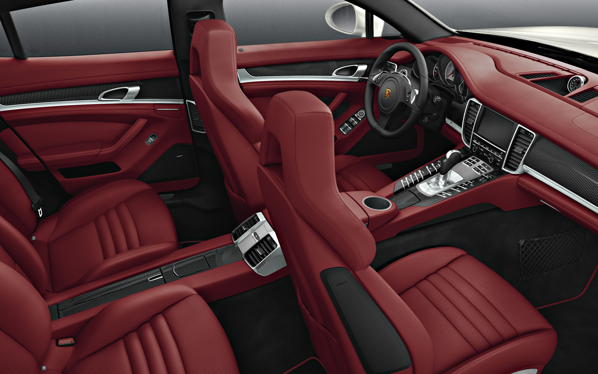 Porsche Panamera White Red Interior
