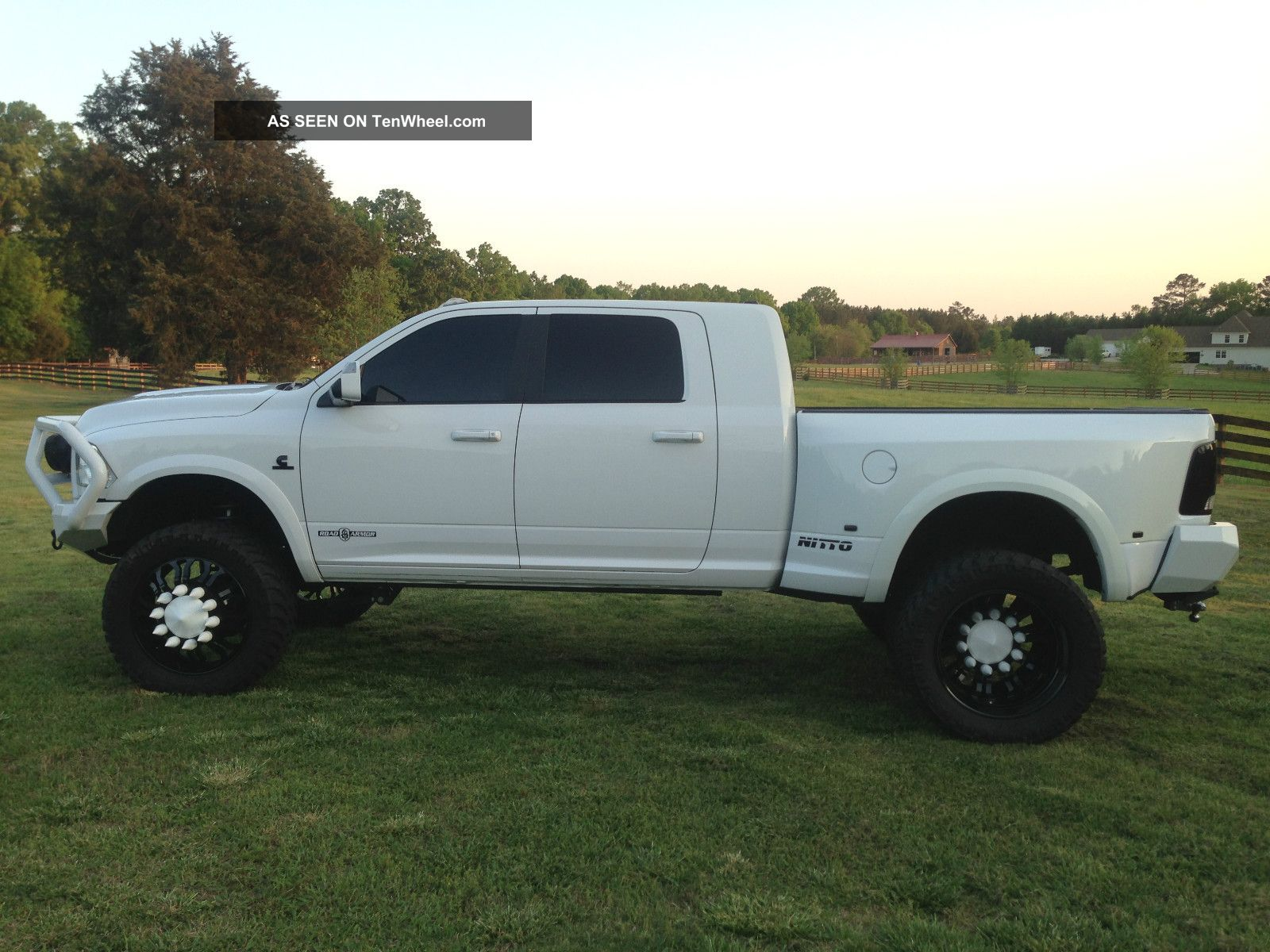 Ram 3500 lifted white