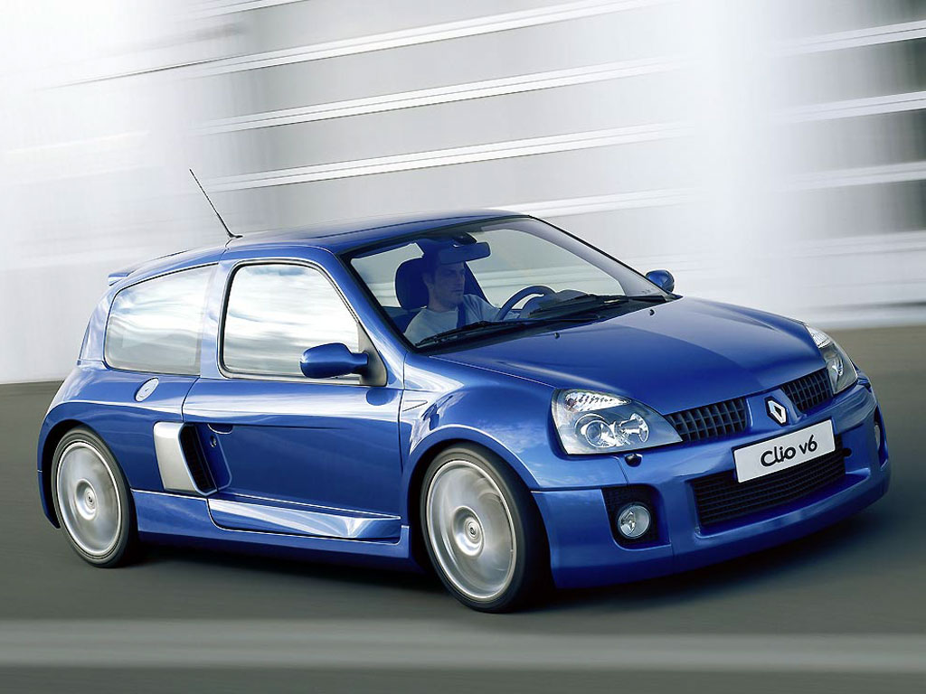 Renault Clio V6 Renault Sport front 3/4 view