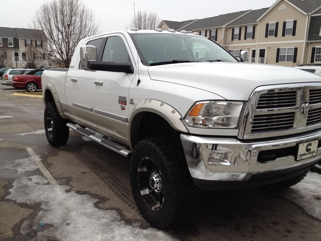 White Ram 2500 Lifted